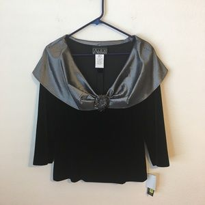 Alex Evenings formal  blouse NWT